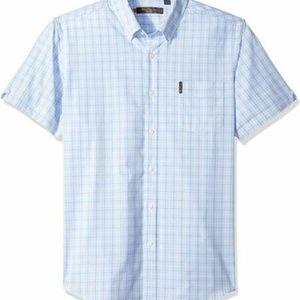 Ben Sherman Men's L SS Prep Check Button Up Shirt